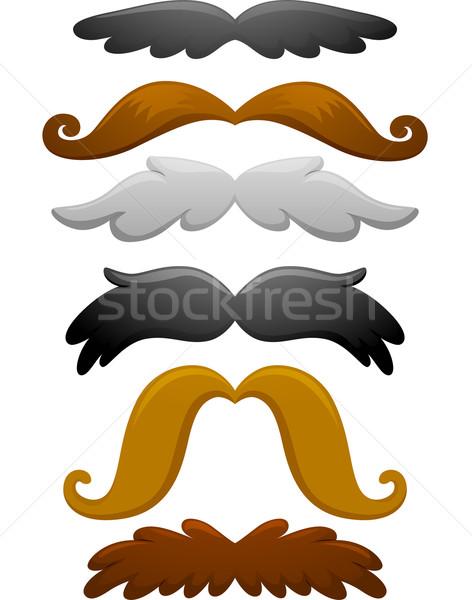 Moustache Stock photo © lenm