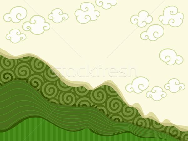 Mountainous Background Stock photo © lenm
