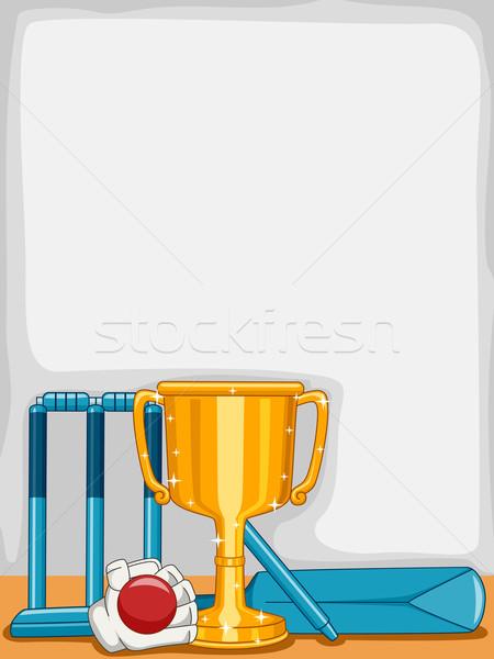 Kriket ganimet arka plan örnek dizayn kulüp Stok fotoğraf © lenm