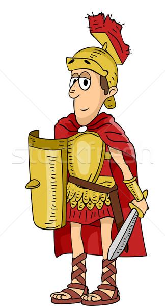 Romana soldado ilustración espada masculina estilo de vida Foto stock © lenm
