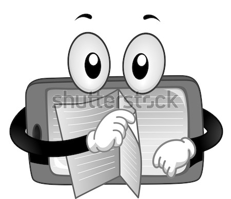 Mascotte réfrigérateur vide illustration vecteur Photo stock © lenm