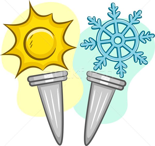 Summer Winter Torch Stock photo © lenm