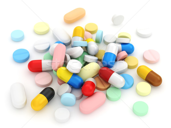 Stockfoto: 3d · illustration · medische · gezondheid · drugs · 3D · illustratie