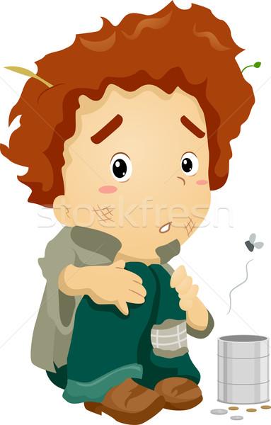 Mendiant Kid illustration jeunes sale Photo stock © lenm