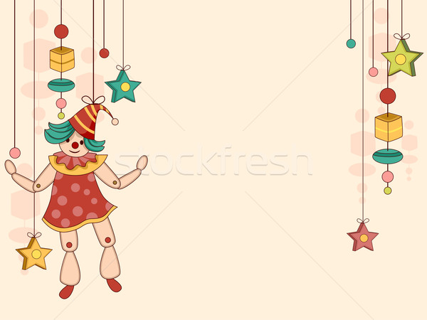 Toy Puppet Background Stock photo © lenm