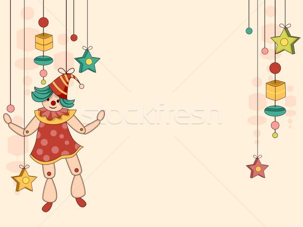 игрушку марионеточного фон иллюстрация строку звездой Сток-фото © lenm