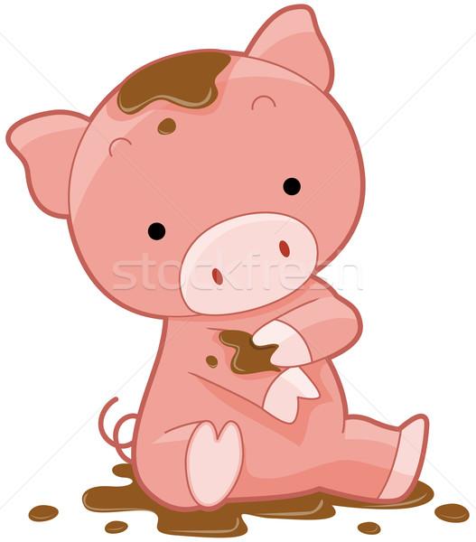 Cute Pig Stock photo © lenm