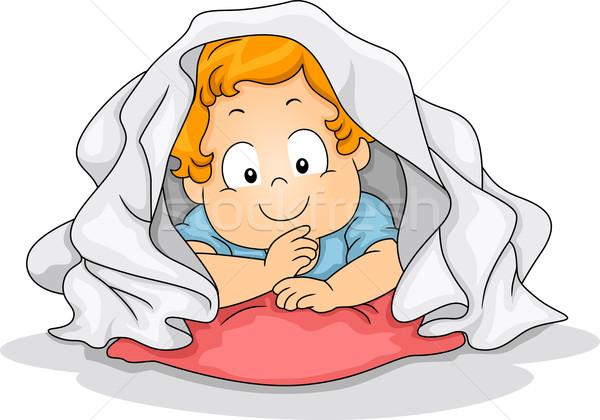Blanket Boy Stock photo © lenm
