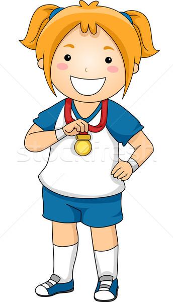 Stock photo: Female Medalist
