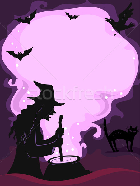 Halloween Frame Stock photo © lenm