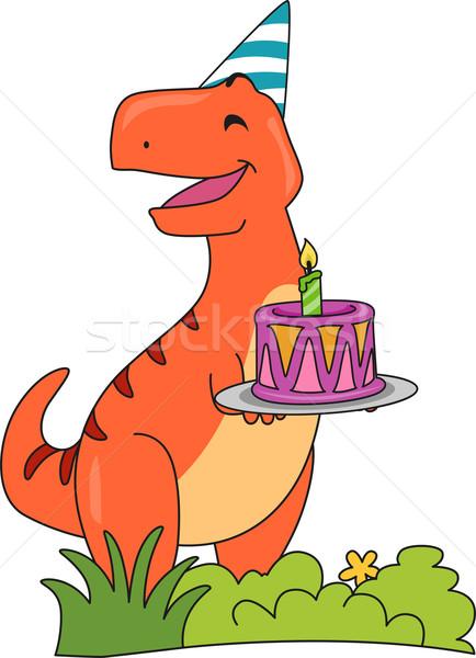Stockfoto: Verjaardagstaart · illustratie · gelukkig · partij · kunst