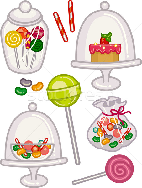 Sweets Jars Stock photo © lenm