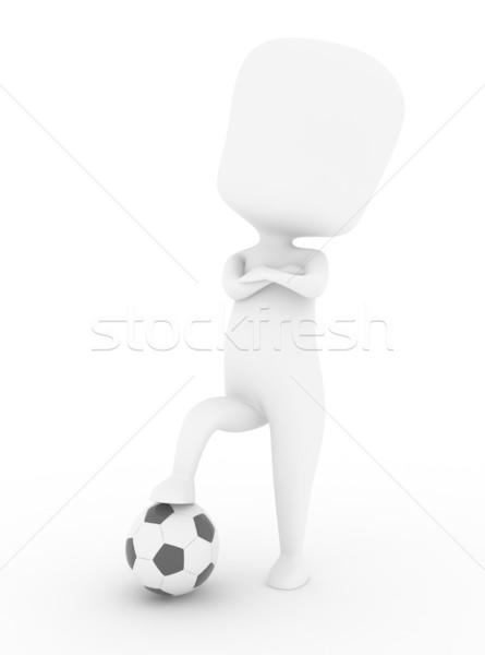 Cocky Player Stock photo © lenm