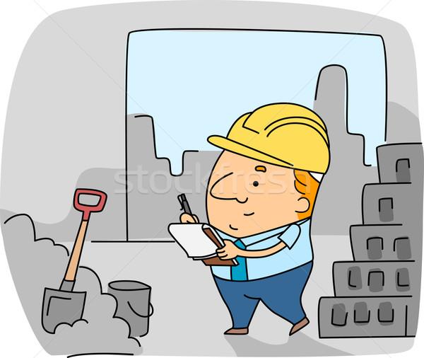 Construction Inspector Stock photo © lenm