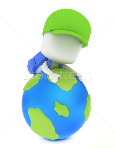 ストックフォト: 幼稚園 · 世界中 · 登山 · 3次元の図 · 子供 · 学校