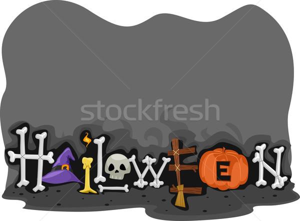 Halloween Footer Stock photo © lenm