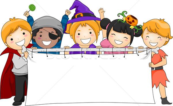Halloween banner illustratie kinderen kind Stockfoto © lenm