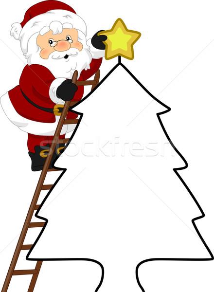 Stock photo: Santa Christmas Tree