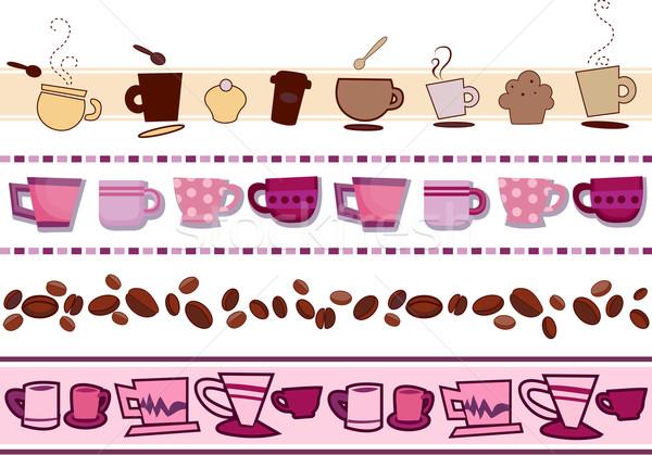 Coffee Borders Stock photo © lenm