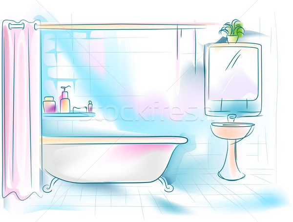 Bathroom Stock photo © lenm