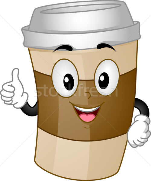Coffee Cup Mascot Stock photo © lenm