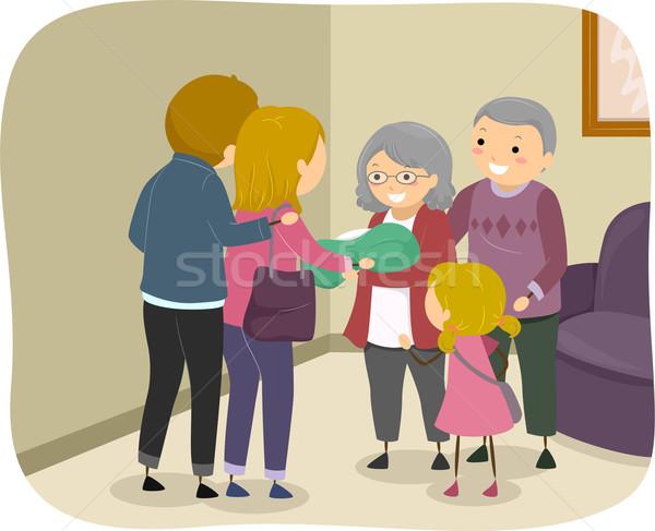 Grandparent Visit Stock photo © lenm