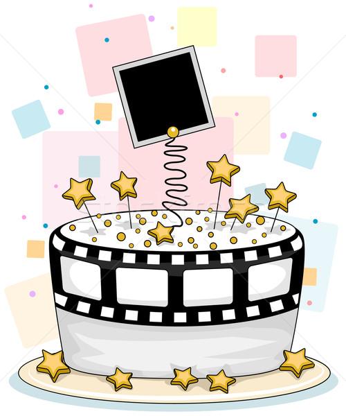 Celebrity torta illustrazione film star foto Foto d'archivio © lenm