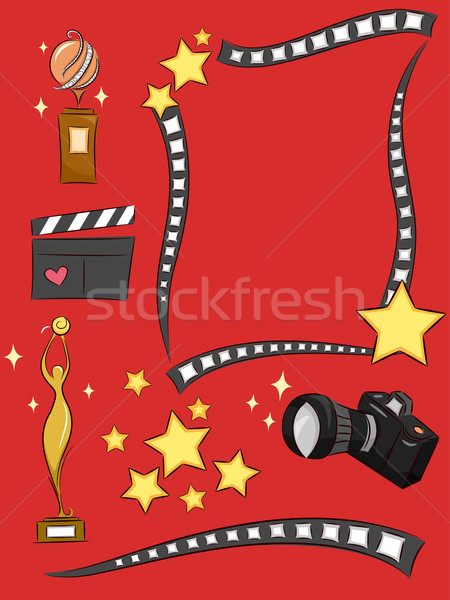 Superstar design illustration film art Photo stock © lenm