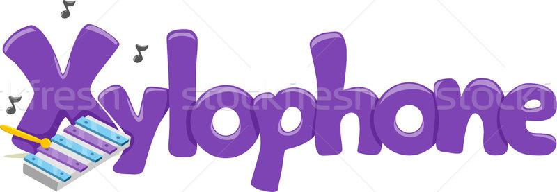 ксилофон текста иллюстрация слово письме чтение Сток-фото © lenm