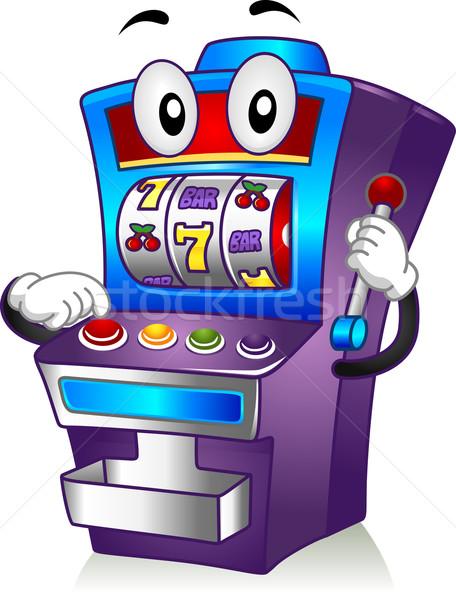 Játékautomata kabala illusztráció kaszinó játék rajz Stock fotó © lenm