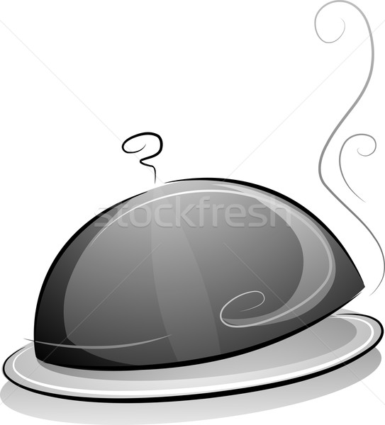 Plat couvrir blanc noir illustration design fumée Photo stock © lenm