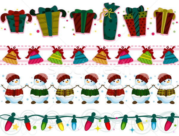 Christmas Borders vector illustration