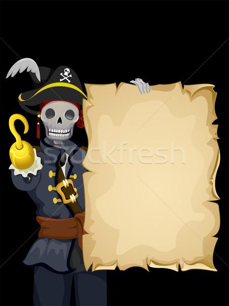 Pirate Skeleton Background Stock photo © lenm