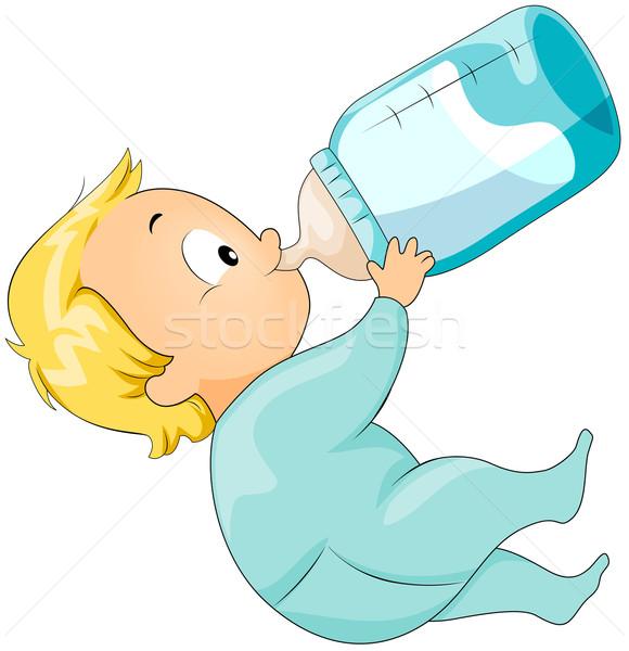 Foto stock: Potable · leche · bebé · botella · nino
