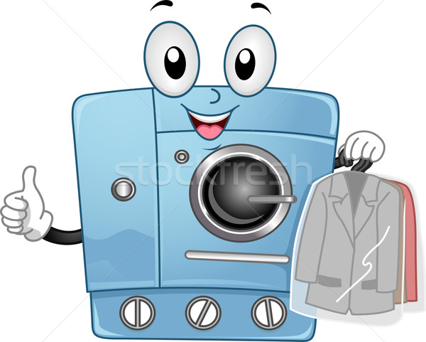 Dry Clean Machine Mascot Stock photo © lenm