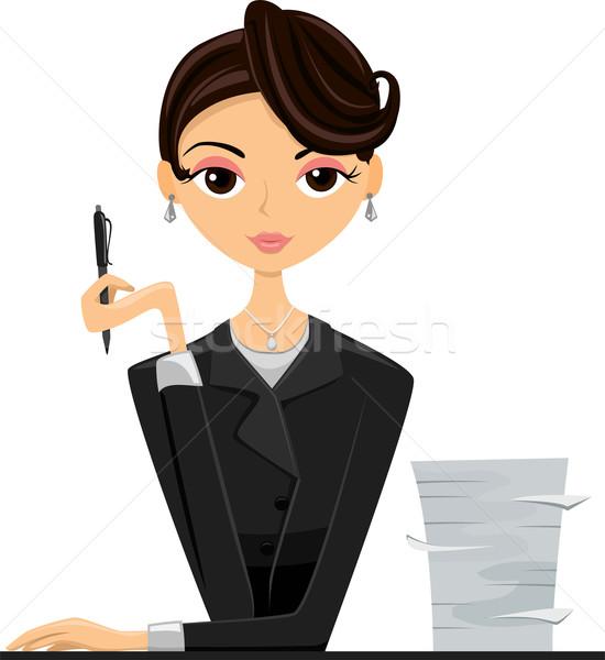 Office Girl Stock photo © lenm