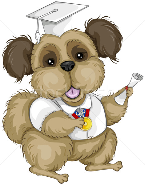 犬 大学院 犬の訓練 漫画 金メダル ストックフォト © lenm