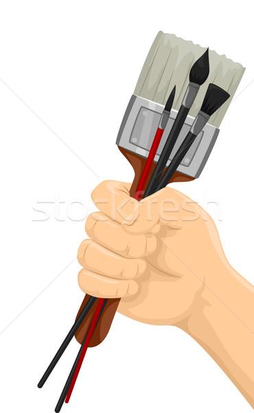 Hand Paintbrushes Stock photo © lenm