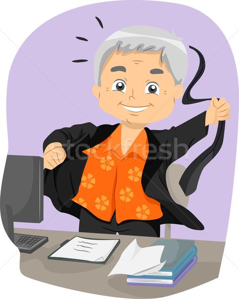 Senior homem aposentadoria ilustração Foto stock © lenm