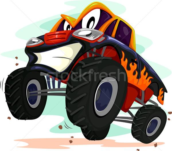 Stock photo: Mascot Monster Truck