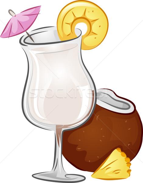 Drinks Pina Colada Stock photo © lenm