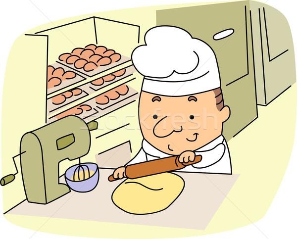 Baker illustrazione lavoro lavoro ragazzo carriera Foto d'archivio © lenm