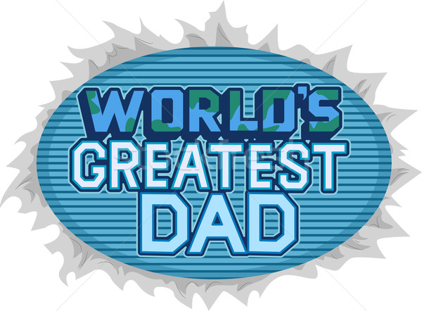 Grootst vader illustratie woorden vader tekst Stockfoto © lenm