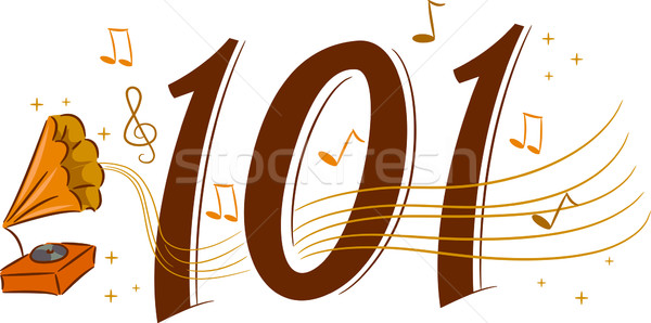 Retro muziek 101 illustratie web Stockfoto © lenm