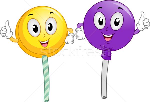 Lollipop Mascot Stock photo © lenm