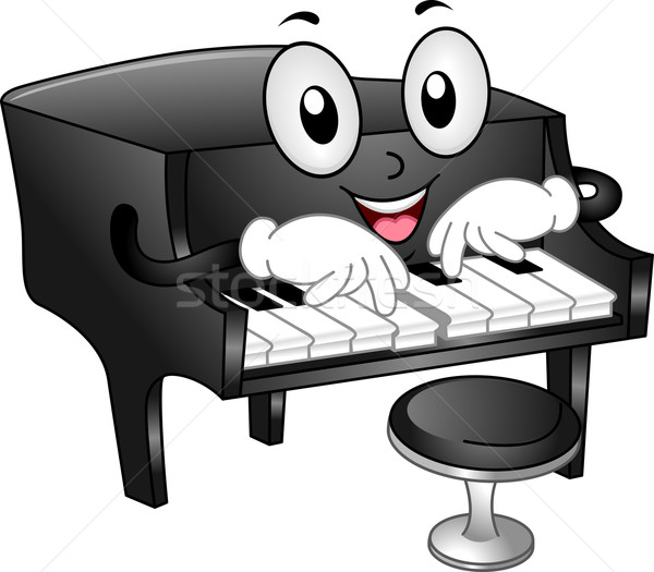 Grand Piano Mascot Stock photo © lenm