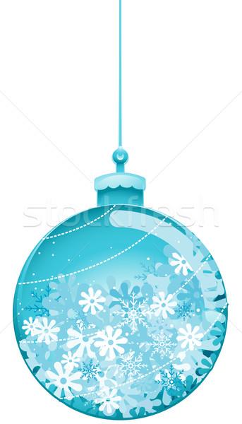 Karácsony csecsebecse hópelyhek vágási körvonal tél labda Stock fotó © lenm