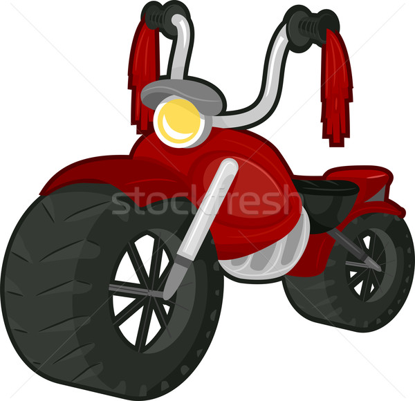 Grande moto ilustración rojo adjunto diseno Foto stock © lenm