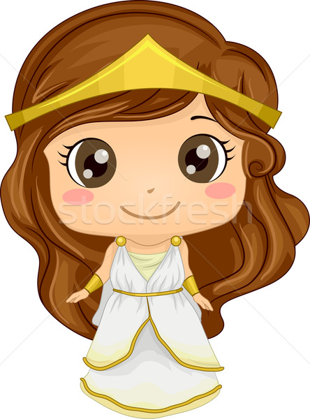 Grieks kostuum illustratie meisje jonge Stockfoto © lenm