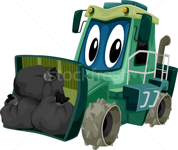 Maskotka śmieci ilustracja załadować sztuki Zdjęcia stock © lenm